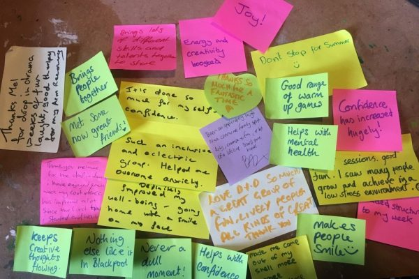 Pile of colourful post it notes